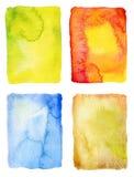 αφηρημένο χρωματισμένο ανασκοπήσεις watercolor Στοκ φωτογραφία με δικαίωμα ελεύθερης χρήσης