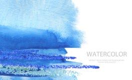 Αφηρημένο χρωματισμένο κτυπήματα υπόβαθρο βουρτσών watercolor Σύσταση PA στοκ εικόνες
