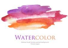 Αφηρημένο χρωματισμένο κτυπήματα υπόβαθρο βουρτσών watercolor στοκ εικόνα