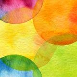Αφηρημένο χρωματισμένο κύκλος υπόβαθρο watercolor Στοκ Εικόνες
