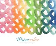 Αφηρημένο χρωματισμένο κύκλος υπόβαθρο watercolor Στοκ Εικόνα