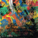 Αφηρημένο χρωματισμένο ουράνιο τόξο υπόβαθρο τέχνης Στοκ Εικόνα