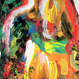 Αφηρημένο χρωματισμένο ουράνιο τόξο υπόβαθρο τέχνης Στοκ φωτογραφία με δικαίωμα ελεύθερης χρήσης
