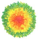 Αφηρημένο χρωματισμένο χέρι υπόβαθρο κατασκευασμένων ακρυλικό και watercolor στοκ φωτογραφία