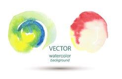 Αφηρημένο χρωματισμένο χέρι υπόβαθρο watercolor Στοκ εικόνες με δικαίωμα ελεύθερης χρήσης