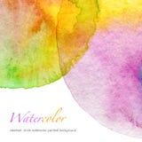 Αφηρημένο χρωματισμένο watercolor υπόβαθρο κύκλων Στοκ Φωτογραφία