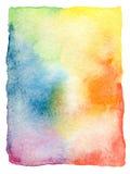 Αφηρημένο χρωματισμένο watercolor υπόβαθρο Στοκ Εικόνα