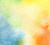 Αφηρημένο χρωματισμένο watercolor υπόβαθρο Στοκ φωτογραφίες με δικαίωμα ελεύθερης χρήσης