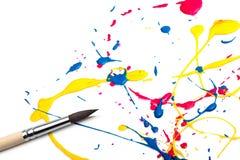 αφηρημένο χρώμα βουρτσών Στοκ εικόνες με δικαίωμα ελεύθερης χρήσης