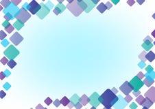 Αφηρημένο χρώμα υποβάθρου του στρογγυλού τετραγώνου Στοκ εικόνα με δικαίωμα ελεύθερης χρήσης