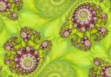 Αφηρημένο ψηφιακό έργο τέχνης Πρότυπα της φύσης Μαγικά κοχύλια στοκ εικόνα