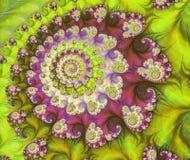 Αφηρημένο ψηφιακό έργο τέχνης Πρότυπα της φύσης Μαγικά κοχύλια απεικόνιση αποθεμάτων