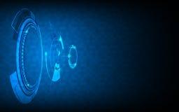 Αφηρημένο ψηφιακό δικτύωσης υπόβαθρο σχεδίου μετακίνησης έννοιας τεχνολογίας μελλοντικό Στοκ Εικόνες