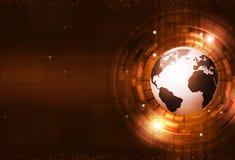 Αφηρημένο ψηφιακό κόκκινο υπόβαθρο τεχνολογίας Στοκ εικόνες με δικαίωμα ελεύθερης χρήσης