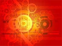 αφηρημένο ψηφιακό κόκκινο &alph Στοκ Εικόνες