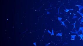 Αφηρημένο ψηφιακό μπλε υπόβαθρο Επίδραση πλεγμάτων r r απεικόνιση αποθεμάτων
