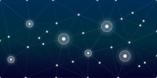 Αφηρημένο ψηφιακό υπόβαθρο τεχνολογίας σύνδεσης δικτύων ελεύθερη απεικόνιση δικαιώματος