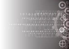 Αφηρημένο ψηφιακό υπόβαθρο τεχνολογίας, διανυσματική απεικόνιση Στοκ Φωτογραφίες