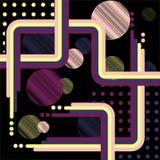 Αφηρημένο ψηφιακό χρώμα τέχνης παφλασμών Στοκ εικόνα με δικαίωμα ελεύθερης χρήσης