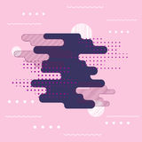 Αφηρημένο ψηφιακό χρώμα τέχνης παφλασμών Στοκ εικόνες με δικαίωμα ελεύθερης χρήσης