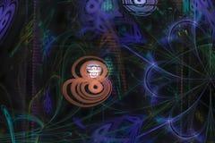 Αφηρημένο ψηφιακό fractal λάμπει υπερφυσική φαντασία διακοσμήσεων επιφάνειας έκρηξης ύφους μαγική, δυναμικός, σχέδιο επικαλύψεων  απεικόνιση αποθεμάτων