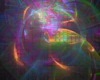 Αφηρημένο ψηφιακό fractal, φουτουριστικό όμορφο σχέδιο κατασκευασμένο, δυναμικός διανυσματική απεικόνιση