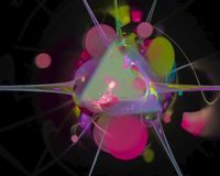Αφηρημένο ψηφιακό fractal, όμορφο σχέδιο φαντασίας τάσης μαγικό, φουτουριστικός δυναμικός κομμάτων διανυσματική απεικόνιση