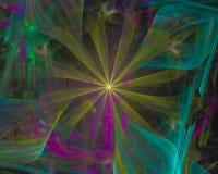 Αφηρημένο ψηφιακό fractal, fantasywave δυναμικός δίνει τη φαντασία σχεδίου διανυσματική απεικόνιση