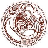 αφηρημένο ύφος του Φοίνικας mehndi πουλιών Στοκ φωτογραφία με δικαίωμα ελεύθερης χρήσης