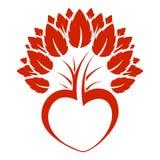 αφηρημένο δέντρο λογότυπω&n Στοκ εικόνες με δικαίωμα ελεύθερης χρήσης