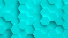 Αφηρημένο coloful υπόβαθρο με τον τρισδιάστατο hexagons βρόχο ελεύθερη απεικόνιση δικαιώματος