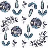 Αφηρημένο floral άνευ ραφής διανυσματικό σχέδιο Βρίσκεται στο swacth Στοκ Φωτογραφία