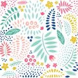 Αφηρημένο floral άνευ ραφής πρότυπο Στοκ Εικόνα