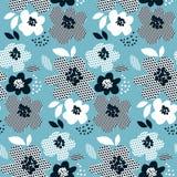 Αφηρημένο floral άνευ ραφής σχέδιο έννοιας Στοκ Εικόνα