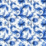Αφηρημένο floral άνευ ραφής υπόβαθρο, σχέδιο με τα λαϊκά λουλούδια Στοκ εικόνα με δικαίωμα ελεύθερης χρήσης