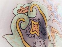 Αφηρημένο floral ζωηρόχρωμο σχέδιο διακοσμήσεων σύστασης διακοσμήσεων Στοκ φωτογραφία με δικαίωμα ελεύθερης χρήσης