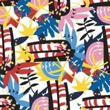 Αφηρημένο floral κολάζ εγγράφου στοιχείων Στοκ εικόνες με δικαίωμα ελεύθερης χρήσης