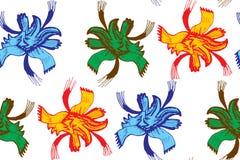 αφηρημένο floral πρότυπο άνευ ρα&p Αποκλειστική διακόσμηση κατάλληλη για το κλωστοϋφαντουργικό προϊόν, το ύφασμα και τη συσκευασί Στοκ Εικόνες
