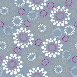 αφηρημένο floral πρότυπο κύκλων ά&nu Στοκ εικόνα με δικαίωμα ελεύθερης χρήσης