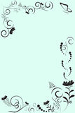αφηρημένο floral πρότυπο πλαισίων Ελεύθερη απεικόνιση δικαιώματος
