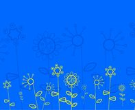 αφηρημένο floral πρότυπο Στοκ εικόνες με δικαίωμα ελεύθερης χρήσης