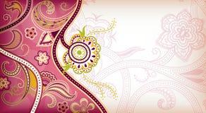 αφηρημένο floral ροζ ανασκόπηση&s διανυσματική απεικόνιση