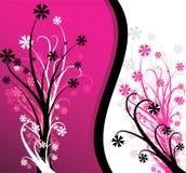 αφηρημένο floral ροζ ανασκόπηση&s Στοκ Φωτογραφίες