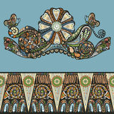 Αφηρημένο floral σχέδιο διακοσμήσεων σχεδίου Στοκ φωτογραφία με δικαίωμα ελεύθερης χρήσης