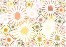 Αφηρημένο floral σχέδιο στις σκιές καφετιού Στοκ Εικόνα