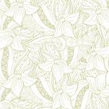 Αφηρημένο floral υπόβαθρο zentangle Στοκ Φωτογραφία