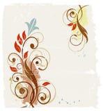 αφηρημένο floral grunge ανασκόπησης απεικόνιση αποθεμάτων