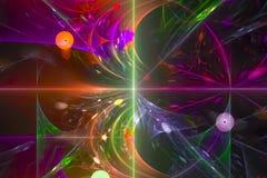 Αφηρημένο fractal έκρηξης νεφελώματος κυμάτων παφλασμών ενεργειακής φανταστικό απεικόνισης επικαλύψεων επιστήμης ελαφρύ σκηνικό σ διανυσματική απεικόνιση