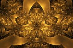 αφηρημένο fractal ανασκόπησης Ιδιαίτερα λεπτομερές υπόβαθρο στους πορτοκαλιούς και χρυσούς τόνους με τα στοιχεία των σπειρών, των διανυσματική απεικόνιση