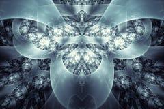 αφηρημένο fractal ανασκόπησης Ιδιαίτερα λεπτομερές υπόβαθρο στους κυανούς και μπλε τόνους με τα στοιχεία των σπειρών, των γραμμών διανυσματική απεικόνιση
